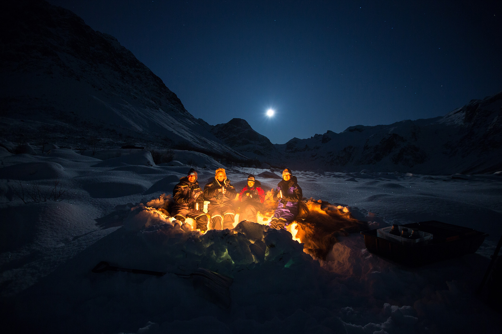 Campfire, Northern Norway